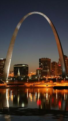 The Gateway Arch, Saint Louis, Missouri by Eero Saarinen Architect and Hannskarl Bandel Structural engineer Places Around The World, Oh The Places You'll Go, Great Places, Places To Travel, Beautiful Places, Places To Visit, Beautiful World, Around The Worlds, Amazing Places