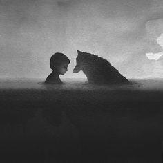 animals-children-black-and-white-watercolor-art-elicia-edijanto