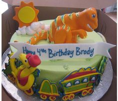 Dinosaur Train cake (from Cakes 4 Occasions)