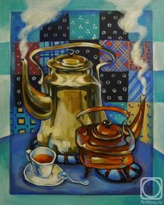 Painting «Not titled Cafe Art, Still Life Art, Russian Art, House Painting, Contemporary Art, Abstract Art, Art Gallery, My Arts, Drawings