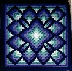 Discover thousands of images about Cathy's Four-Way Bargello Patterns Page Study this! Contact her about colour substitution for the pattern I found Bargello Quilt Patterns, Bargello Needlepoint, Bargello Quilts, Needlepoint Stitches, Needlepoint Kits, Needlework, Quilting Patterns, Crazy Quilting, Embroidery Patterns