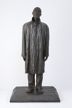"""""""Urban Francis"""", 2000-2002, Judith Shea, American (b. 1948), cast bronze, 76 x 41 x 32 in. Museum purchase with a bequest from Leah Louise Tannenbaum and funds from the Tannenbaum-Sternberger Foundation given in her memory; additional funds provided by the Burlington Industries Endowment and the Weatherspoon Art Museum Acquisition Endowment, 2007. 2007.7"""