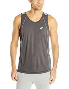 ASICS Mens Shosha Stripe Performance Tank Top