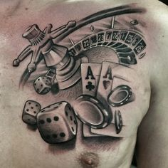 Nice black and grey roulette tattoo by Gerrit Bekman.