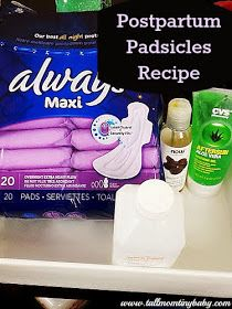 Tall Mom tiny baby: HOW TO MAKE POSTPARTUM PADSICLES / PADSICKLES