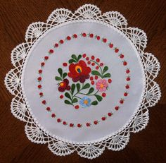 Original Hungarian Underplate with matyo colorful by Folklortrend, Hand Embroidery Stitches, Baby Knitting Patterns, Diy And Crafts, Coasters, Projects To Try, Unique Jewelry, Handmade Gifts, Color, Etsy