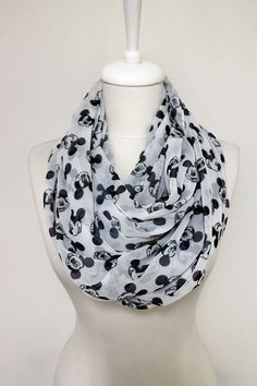 Walt Disney Mickey Mouse pattern Chiffon Infinity by Aslidesign Disney