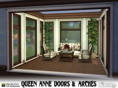 The Queen Anne style emerged within the Victorian period between 1880 and 1910. The doors and arches are part of the Queen Anne Buildingset, this is part 2. Part 1 contains the windows. Make sure...