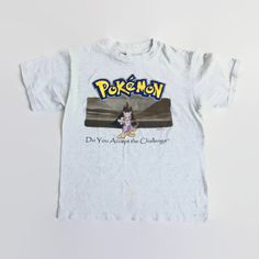 90's vintage Pokemon T-Shirt Mewtwo accept the challenge