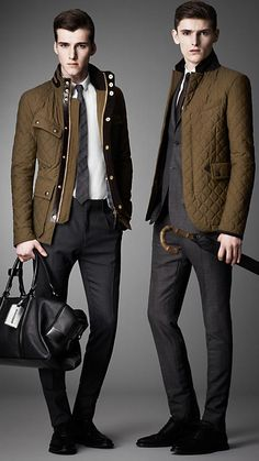 Waxed Cotton Quilted Field Jacket | Burberry