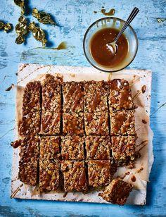 Tray Bake Recipes, Baking Recipes, Cake Recipes, Bread Recipes, No Bake Treats, No Bake Desserts, Health Desserts, Sainsburys Recipes, Flapjack Recipe