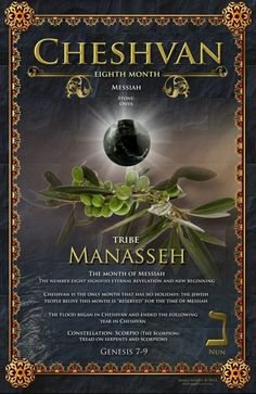 Eighth Biblical Month of Cheshvan, Messiah, The Tribe of Manasseh, Stone: Onyx
