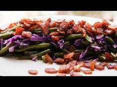 Platou cu fasole verde, varză roșie și bacon - YouTube Cabbage, Bacon, Vegetables, Youtube, Food, Green, Essen, Cabbages, Vegetable Recipes