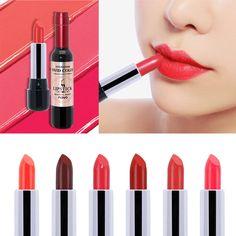 Brand Make Up Full Lips Stick Batons Lote Long Lasting Moisturizer Lips Makeup Red Wine Beauty Matte Velvet Lipstick for Women