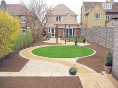 Patio Pergola Over Garden Paths Circular Garden Design, Circular Lawn, Modern Garden Design, Contemporary Garden, Patio Design, Landscape Design, Design Design, Modern Design, Interior Design