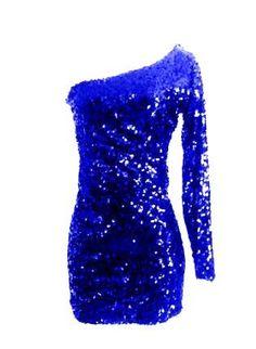 Royal Blue Sequin Long Sleeve Glitter Sparkle Party Dress,  Dress, Sequin long sleeve dress  sequence dress, Chic