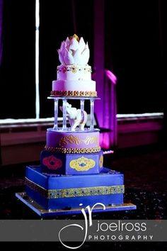 Indian Weddings Inspirations. Elephant wedding cake. Repinned by #indianweddingsmag indianweddingsmag.com