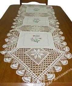 Resultado de imagen para bicos de croche com graficos para caminho de mesa