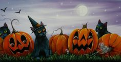 halloween paintings on canvas - Yahoo Image Search Results Retro Halloween, Halloween Pictures, Holidays Halloween, Scary Halloween, Halloween Themes, Halloween Pumpkins, Halloween 2013, Halloween Art Projects, Halloween Painting