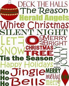 Printable Christmas Subway Art