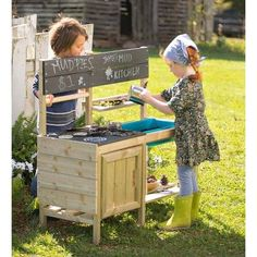 Indoor / Outdoor Mud Kitchen For Kids Outdoor Play - Hearthsong : Target Kids Outdoor Play, Backyard Play, Kids Play Area, Backyard For Kids, Outdoor Toys, Indoor Outdoor, Backyard Ideas, Play Areas, Outdoor Playground