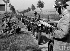 French motorcycle troops France 1940