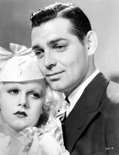 Jean Harlow and Clark Gable, Hold Your Man 1933 Golden Age Of Hollywood, Classic Hollywood, Old Hollywood, Hollywood Glamour, Hollywood Pictures, Classic Movie Stars, Classic Movies, Cinema, Hollywood Couples
