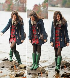 Navy Wool Red Plaid Green Hunters via Classy Girls Wear Pearls