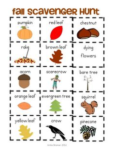 Mrs. Bremer's Kindergarten: Fall Scavenger Hunt