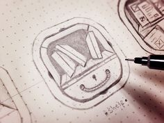 Icon Sketches by Dash
