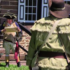 A reading of the Declaration of Independence at the historic Peter Wentz Farmstead in Worcester, Pennsylvania.