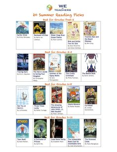 20 Summer Reading Picks from #weareteachers  Enjoying pleasure summer  reading by the pool and at the beach! Summer reading selections for my kids summer reading! Thinking about book selections to add to my classroom library!