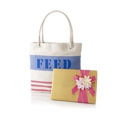 Godiva Spring Ballotin and FEED Bag - makes a difference in the lives of children in need