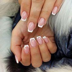 French Manicure Acrylic Nails, Cute Acrylic Nails, Acrylic Nail Designs, French Nails, Nail Art Designs, Nail Polish, Easy Nails, Simple Nails, Nailed It