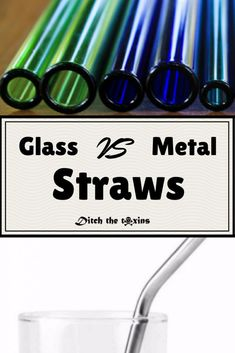 Want eco-friendly alternatives to one-use plastic straws? Pros and Cons of Glass Straws vs Metal Straws. Stainless Steel Metal Drinking Straws or Glass? Green Living Tips, Green Tips, Diy Straw, Metal Straws, Stainless Steel Straws, Linen Storage, No Waste, Paper Straws, Steel Metal