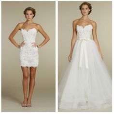 So perfect : Wedding dress : Long for The ceremony and short for the reception