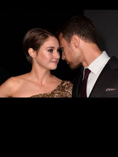 The two stars of Divergent at the premiere Shailene Woodley and Theo James