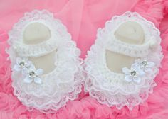 Aliexpress.com : Buy 1pair Crochet new born baby white dress shoes ...