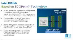 3D Xpoint hat einige Vorteile verglichen mit DDR4. (Bild: Intel)