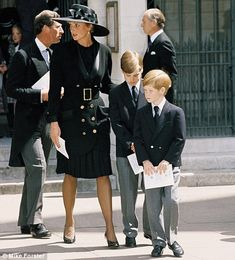 Princess Diana, pictured with Princes William and Harry in 1992.