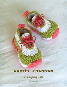 Crochet Pattern Comfy Toddler Sneakers