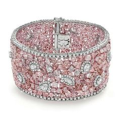 Almor Design Pink diamond bracelet   You can see the Rest of the Outfit and my Comments on this board. - Gabrielle #PinkDiamonds