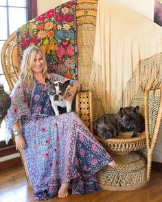 double rattan peacock chair/s. Vanessa's Vintage Bohemian Hilltop Home House Tour 3 lovely French Bulldogs! Bohemian House, Bohemian Gypsy, Vintage Bohemian, Bohemian Decor, Bohemian Style, Boho Chic, Bohemian Living, Hippie House, Modern Bohemian
