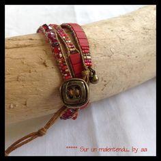 Wrap Red Red Pink! : Bracelet par sur-un-malentendu-by-aa