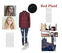 """""""Red Plaid"""" by silly-stegosaurus ❤ liked on Polyvore featuring Topshop, Elorie, MAC Cosmetics, Ryan Roche, Estée Lauder, Bobbi Brown Cosmetics, Chanel, Christian Dior, NARS Cosmetics and Urban Decay"""