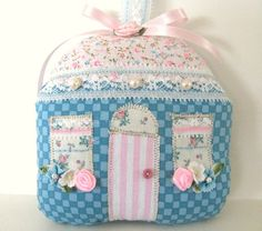 Lavender Sachet COTTAGE  Sachet House TEAL by CharlotteStyle, $16.00