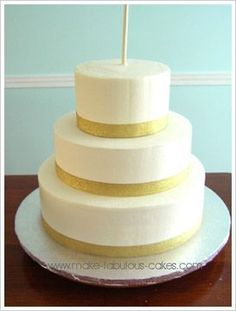 Step by step instructions on how to make a stacked cake