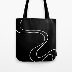 Ebb and Flow 3 - Black on White Tote Bag by laec | Society6