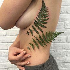 plant / fern tattoo
