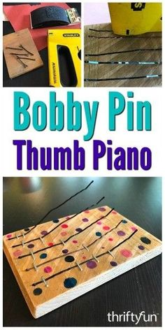 Making one of these hand held musical instruments is a great project to work on with your children. This is a guide about how to make a bobby pin thumb piano. musical instruments How to Make a Bobby Pin Thumb Piano